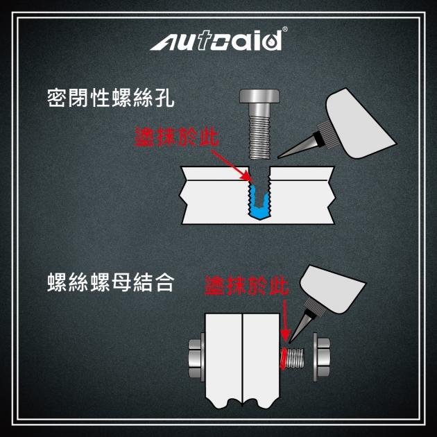 中強度螺絲固定膠 (藍) 3